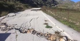 Δρόμος κόπηκε στην μέση στο Ρέθυμνο (φωτο)