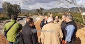 Χανιά: Κλιμάκιο του υπουργείου έκανε αυτοψία στη θέση που θα χτιστεί η νέα γέφυρα Κερίτη