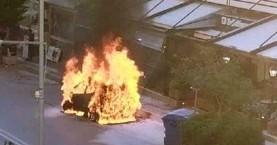 Αμάξι στο Ρέθυμνο έγινε παρανάλωμα του πυρός (φωτο)