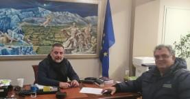 Ενημερωτική συνάντηση Δημάρχου Οροπεδίου Λασιθίου με διευθυντή ΟΑΚ