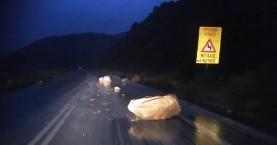 Βράχος έπεσε στην εθνική οδό Χανίων – Κισάμου