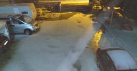 Χιόνισε το βράδυ στο Γεράνι (φωτο)