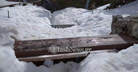 Δυο μέτρα το χιόνι στο Ξυλόσκαλο - Πολλοί εκδρομείς την Κυριακή στον Ομαλό (φωτο)