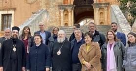 Στην Ιερά Μονή Αγίας Τριάδος η Υπουργός Πολιτισμού