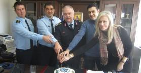 'Εκοψαν την πίτα στον 4ο όροφο του Αστυνομικού μεγάρου Χανίων (φωτο)