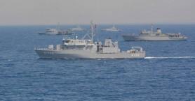 Ναυτική αρμάδα σε άσκηση στον κόλπο της  Γεωργιούπολης