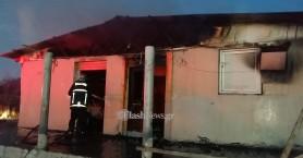 Καταστράφηκε τελείως σπίτι στα Χανιά από φωτιά (φωτο - βίντεο)