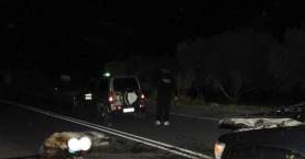 Φοβερή σύγκρουση αλόγου με αγροτικό αυτοκίνητο στην Μεσαρά (φωτο)