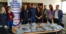 Δωρέα 700 μασκών από την Ένωση Αστυνομικών Ηρακλείου