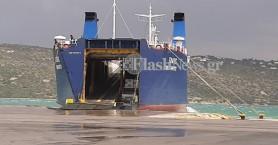 Έσπασε κάβος σε πλοίο στο λιμάνι της Σούδας (φωτο - βίντεο)