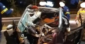 Σοκαριστικές εικόνες από σφοδρό τροχαίο στη Μαραθώνος - Σώθηκε από θαύμα η οδηγός