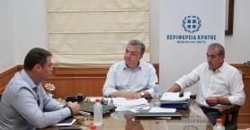 Συνάντηση Περιφερειάρχη Κρήτης με τον Δήμαρχο Χερσονήσου
