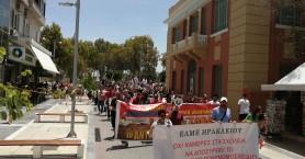Η απεργιακή κινητοποίηση των εκπαιδευτικών στο Ηράκλειο