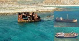 Διαλύεται το ναυάγιο της Γραμβούσας (φωτο)
