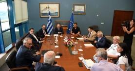 Συνάντηση της διοίκησης του ΟΛΗ με τον Υπουργό Ναυτιλίας Γιάννη Πλακιωτάκη
