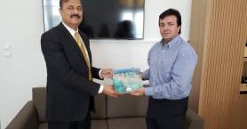 Συνάντηση Αντιπεριφερειάρχη Ηρακλείου με τον νέο Πρέσβη του Πακιστάν