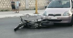 Νέο τροχαίο στα Χανιά με εμπλοκή μοτοσικλέτας (φωτο)
