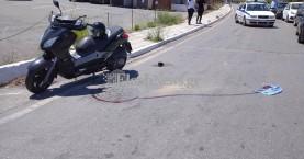Τροχαίο ατύχημα στα Χανιά με τραυματισμό οδηγό δικύκλου (φωτο)