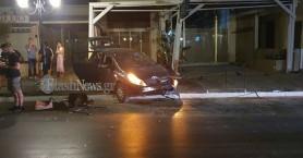 Τροχαίο ατύχημα στον Πλατανιά (φωτο)
