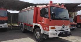 Μεγάλη πυρκαγιά σε διώροφο στην Ιεράπετρα (φωτο)
