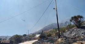 Έσβησε η φωτιά στη Σκλαβοπούλα - Σε ύφεση η πυρκαγιά στο Σέλινο