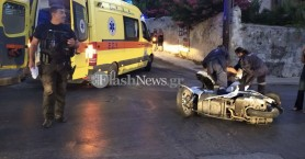 Τρίτωσε το κακό! Νέα τροχαίο με τραυματία οδηγό μοτοσικλέτας στα Χανιά (φωτο)