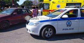 Τροχαίο ατύχημα με τραυματισμό οδηγού μηχανής στα Χανιά (φωτο)