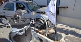 Αυτοκίνητο «καρφώθηκε» σε κατάστημα στα Χανιά! (φωτο)