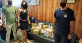 Δωρεά αντισηπτικών για τους αστυνομικούς στο Ηράκλειο