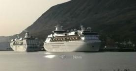 Δύο κρουαζιερόπλοια στο λιμάνι της Σούδας (φωτο)