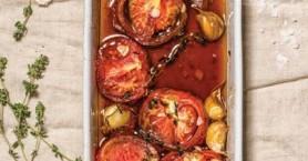 Φουρνιστές ντομάτες με πετιμέζι, σαν μεζές