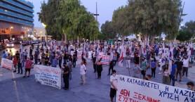 Με μεγάλη συμμετοχή η πορεία στη μνήμη του Π. Φύσσα στο Ηράκλειο