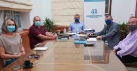Συνάντηση για τα έργα του Υπουργείου Υποδομών στην Κρήτη