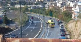 Τροχαίο στην Εθνική Οδό Ηρακλείου - Ρεθύμνου