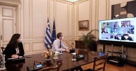 Τη διαδικτυακή διδασκαλία σε Δημοτικό σχολείο των Χανίων παρακολούθησε ο Πρωθυπουργός