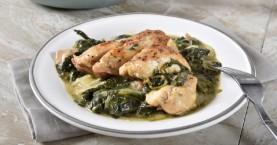 Κοτόπουλο φρικασέ με χορταρικά διάφορα