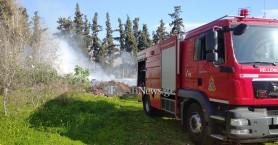 Πυρκαγιά στο Αγροκήπιο στα Χανιά (φωτο)