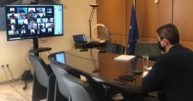 Τηλεδιάσκεψη Λ. Αυγενάκη με τους ιδιοκτήτες γυμναστηρίων του νομού Ηρακλείου