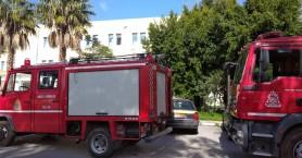 Αναστάτωση στο ΙΚΑ Χανίων για πιθανή πυρκαγιά - Εκκενώθηκαν τα γραφεία (φωτο)