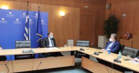 Σύσκεψη Εργασίας της Πολιτικής ηγεσίας του Υπουργείου Υποδομών με τον Περιφερειάρχη