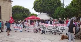 Διαδήλωσαν για την εργατική πρωτομαγιά στα Χανιά (φωτο)