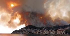 Φωτιά στη Λίμνη Ευβοίας: Εκκενώνονται Ροβιές και Παλαιοχώρι