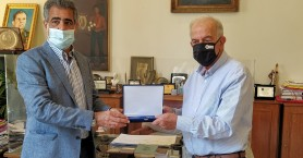 Συνάντηση Δημάρχου Ηρακλείου Βασίλη Λαμπρινού με τον Δήμαρχο Αραδίππου Κύπρου