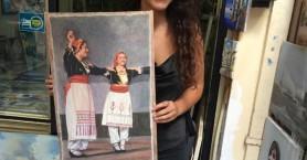 Εκείνος τη ζωγράφισε χωρίς να τη γνωρίζει και εκείνη βρήκε το πίνακά της στα Χανιά