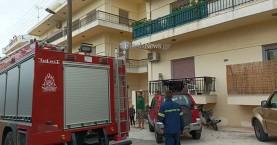 Πήρε φωτιά σε πολυκατοικία στην περιοχή της Χαλέπας