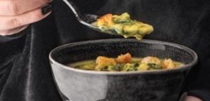 Σούπα με φάβα, σέσκουλα και κρόκο Κοζάνης