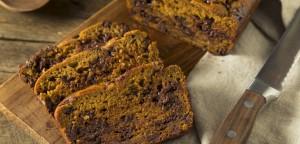 Ψωμί κίτρινης κολοκύθας με σοκολάτα