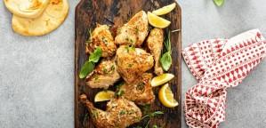 Κοτόπουλο με λεμόνι και θυμάρι