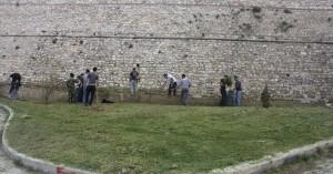 Εργασίες στο πρανές της Τάφρου των Ενετικών Τειχών