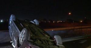 Εγκλωβίστηκαν δυο άτομα στο Ρέθυμνο μετά από ανατροπή αυτοκινήτου